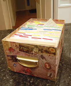 recipe box idea