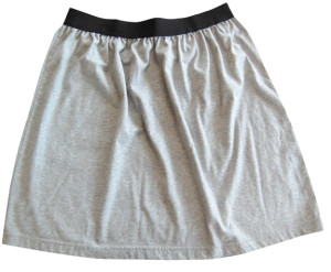 grey t-shirt skirt